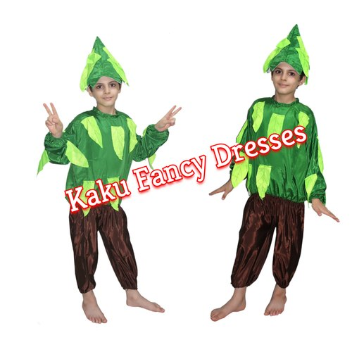 3b45b472f Polyester Girls/Boys Kids Tree Fancy Dress Costume, Age: 3-4/5-6/7-8 ...