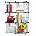 DIY 6 Cubes Wire Modular Storage Organizer for Book, Toy Closet Cabinet