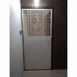 White Mild Steel Single Door