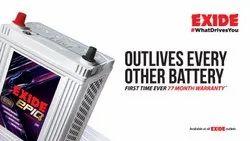 Flat Exide Car Battery, Model Name/Number: Eide Epiq