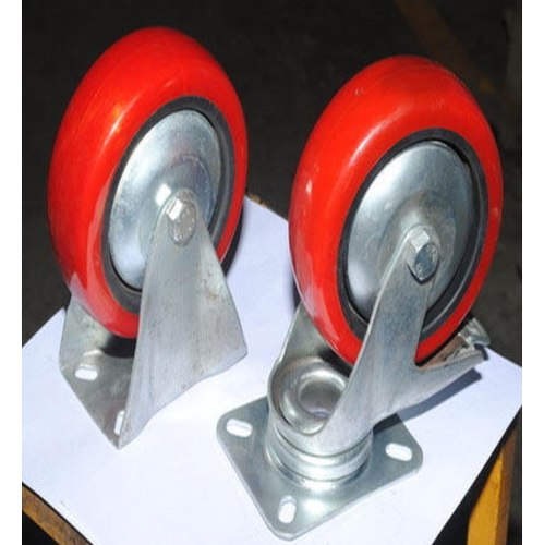 Red Polyurethane PU Trolley Caster Wheel