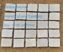 White Yellow Natural, Hand Cut And Tumbled, Thickness: 50-70mm, Size: 15*20cm