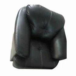 Leather Black Single Sofa Set