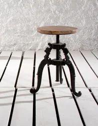 Adjustable Cast Iron Cafe Stool