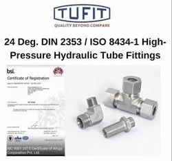 Threaded Tufit BHS-Bulkhead Straight Coupling, For Hydraulic Fittings