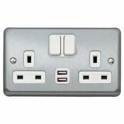 MK 2 Gang Switch Socket