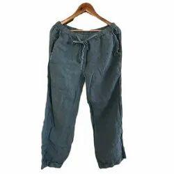Plain Ladies Pant, Waist Size: 28 to 40, Size: L