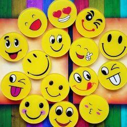 Plastic Smiley Button Badge