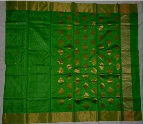 baa41407932 Kareena Design Green Chanderi Saree at Rs 3250  piece