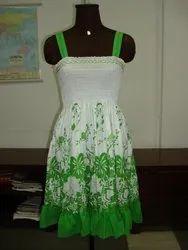 Printed Cotton ladies dress, Sleeveless, Machine wash