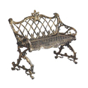 Decorative Cast Iron Garden Bench