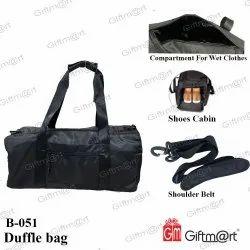 Black Nylon Duffel Bag