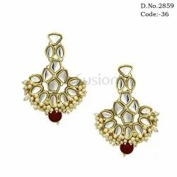 Pearl Kundan Earrings