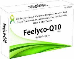 Feelyco-Q10 Tablets, Prescription, Packaging Type: Box