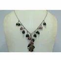 Fashion Silver Real Natural Tourmaline Gemstone Necklace