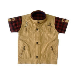 Hand Wash Party Wear Kids Jacket Shirt, Packaging Type: Packet