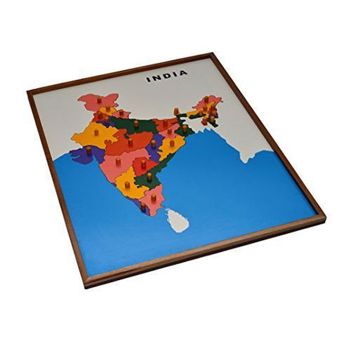 India Map Puzzle.Multicolor Wooden Board India Map Puzzle Rs 1700 Piece Kids Touch