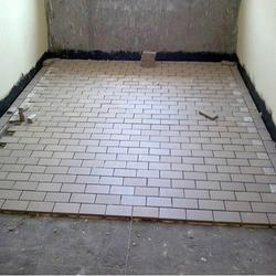 Off-white Ceramic Acid Resistant Tiles, Thickness: 6 - 8 mm, For Construction