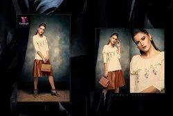 Tarah Stype Mantra Series 101-108 Stylish Party Wear Rayon Top