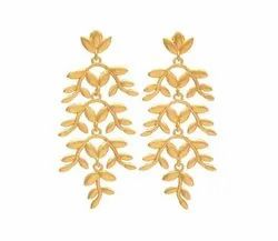 Gold Plated Leaf Earring