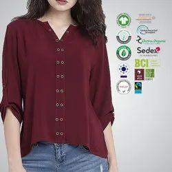 Chetna Organic Cotton Ladies Sleeve Tops