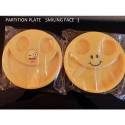 Smiley Face Plastic Partition Plate