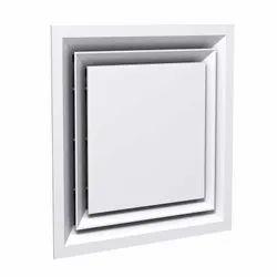 Aluminium Powder Coated Aluminum Architectural Plaque Diffuser, for Commercial, Shape: Square