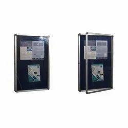 Notice Board Open Type Door Light Weight Economical