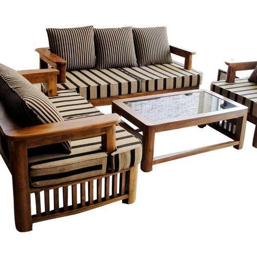 Living Room Wooden Sofa Set At Rs 5000 /piece