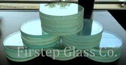 Transparent 51-200mm Diameter Toughened Glass, Shape: Round
