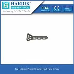 Locking Proximal Radius Neck Plate  2.7mm