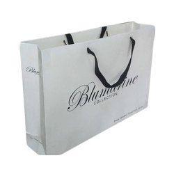 White Base Printed Shopping Bag