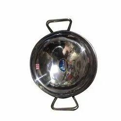 Round Stainless Steel Kadai, Capacity: 2 Litre