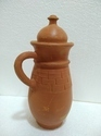 CLAY BOTTLE JAR RED
