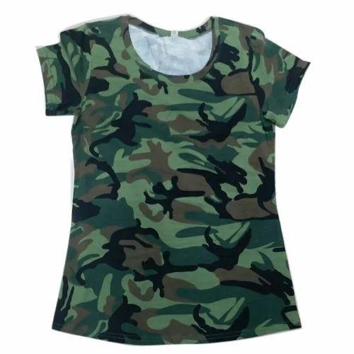 dafd8205da64f Cotton Plain Ladies Printed T Shirt, Rs 150 /piece, Mani Sagar | ID ...