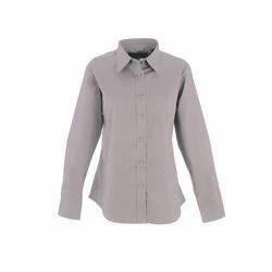Womens Office Cotton Plain Full Sleeve Formal Shirt, Size: S, M & L