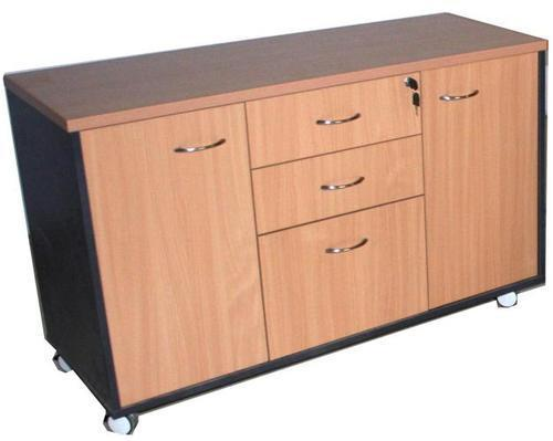 File Rack Wooden Filing Cabinet With Drawers Lock