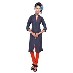 Rayon Collar Pati 20 Button Kurti