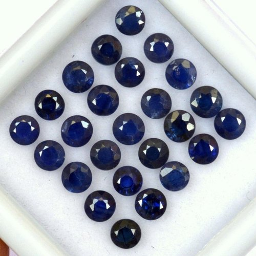 Natural Precious Blue Sapphire Round Gemstones Loose Stones For Jewelry Making