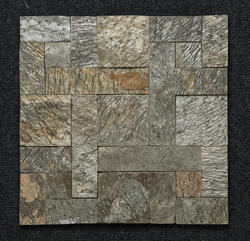 Stone Deoli Green Slate Mosaic, Thickness: 10-15 Mm