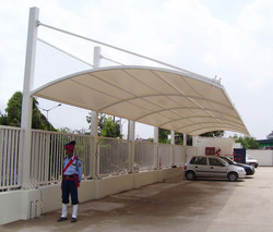 Outdoor Tensile Car Parking Shed