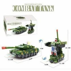 Green Tank To Robot Transform Toy Combat Tank, For Personal
