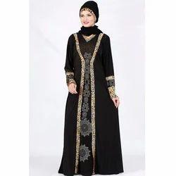 Islamic Black Lycra Abaya