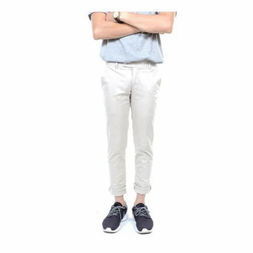 351a3ce467c Slim Fit Cotton White Pant