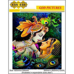 ESS Ceramic 3D God Picture Wall Tile, Size: 600mmx1200mm And 300mmx600mm