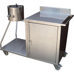 Stainless Steel Roomali Roti Trolley