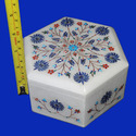 White Indian Marble Jewelry Box