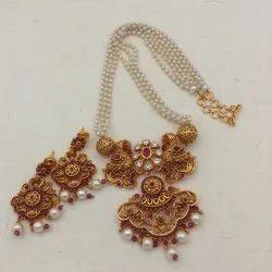 Karishma Kreations Pearl Jewellery Set-Pearl02