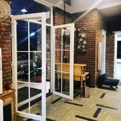Toughened Hinged White UPVC Glass Door, Thickness :5 To 24mm
