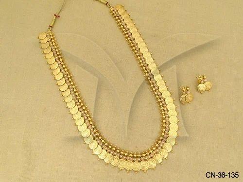 b85f8ef3d43 Js Fashion Designer Beautiful Coin Bridal Long High Gold Necklace Set